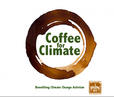 Coffee for Climate Solid Logo - tag line included