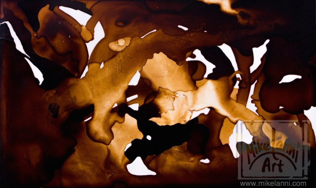Painting made with Coffee