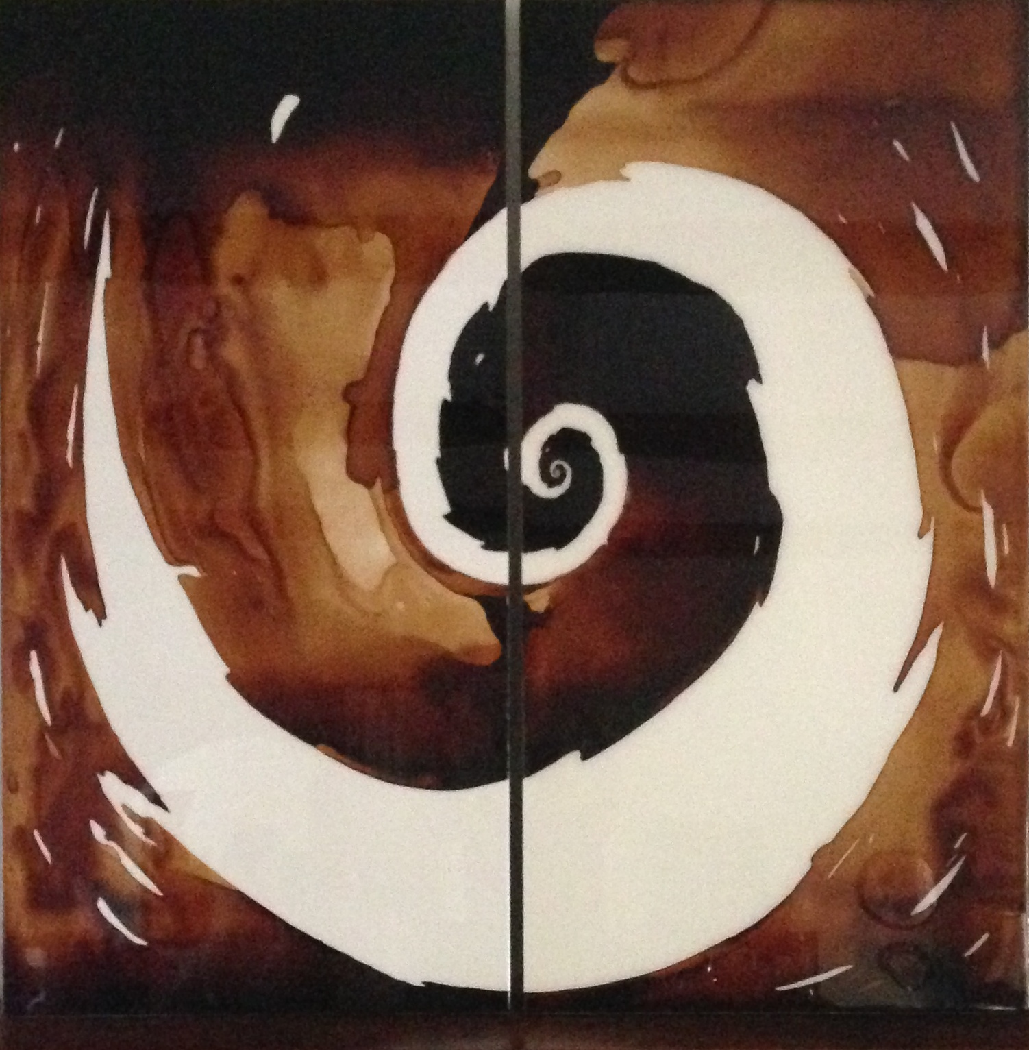 Coffee Art 058 (Diptych – two 30″ X 60″ panels)